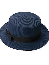Women's Trilby Bowknot Straw Panama Beach Sun Hat (More Colors)