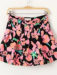 Women's Fashion Lovely Printed Pleated Skirts