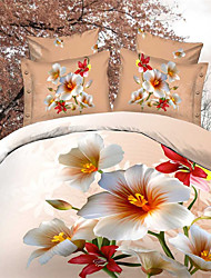 Shuian®Bed Linen Sheet Bedding High Quality Fabric 4 PCS Bedding Sets Bed Sheet