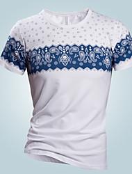 toevallige afdrukken korte mouw regelmatige t-shirts voor mannen (katoen)