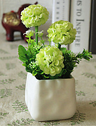 Green Hyfrangeas Artifical Flowers with Vase