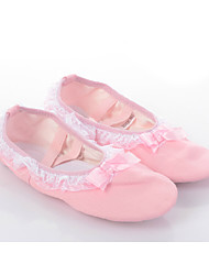 Women's/Kids' Dance Shoes Ballet Lace/Canvas Flat Heel