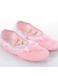 Women's/Kids' Dance Shoes Ballet Lace/Canvas Flat Heel