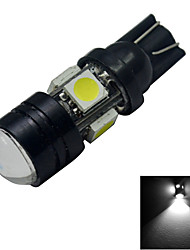 JIAWEN® T10 3W 5X5050SMD 250-280LM 6000-6500K Cool White  LED Car Light (DC 12V)