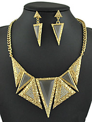 Women's European and American fashion major suit Earrings Necklace Set(1 set)8586-25