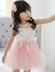 Girl's Cotton Bow Dress