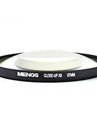 MENGS® 67mm Close-Up X8 Filter With Aluminum Frame For Canon Nikon Sony Fujifilm Olympus And Pentax