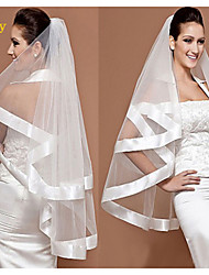 The Bride Veil Marriage Gauze Veil Double Side Pure White Veil TS202 Wide Ribbon