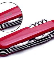 Presente personalizado - Vermelho/Prateado - de Aço Inoxidável