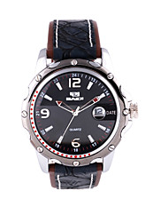Men's sports Watch Genuine Leather Strap Cool Watch Unique Watch