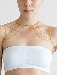 Women's Body Jewelry Body Chain Alloy Unique Design Fashion Jewelry Gold Silver Jewelry Party 1pc