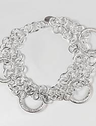 Itália 925 pulseira de prata design surpreendente bracelete pulseiras para venda promoção da mulher