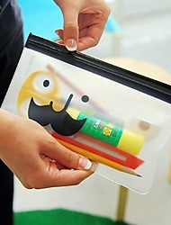 Mr.Beard Transparent  Storage Bag Stationery Bag Random Delivery