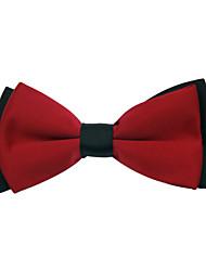 Men's Classic Double Colour Red Bowtie