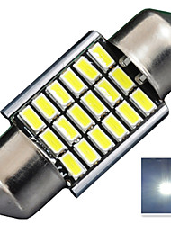 2.8W 12V 180LM DA31MM  3014-18SMD C5W Canbus with radiator Color White License Plate and Tail Box  LED Lamp for Car