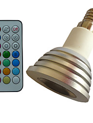 1 pcs SchöneColors E14 4W Color-Changing/Dimmable/21Keys Remote-Controlled/Decorative RGB Spot Lights AC85-265V