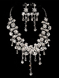 Women's Alloy Wedding/Party Jewelry Set With Rhinestone