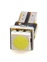 2PCS T5 0.15W 100LM 1*5050 SMD White LED Car Light For Dashboard DC 12V