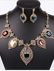 Women Vintage/Party/Casual Rose Gold Necklaces/Earrings Sets