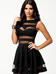 Vestidos ( Negro/Borgoña , Poliéster/Licra , Desempeño/Ropa de Noche ) - Desempeño/Ropa de Noche - para Mujer