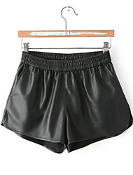 Women's PU Leather Shorts Pants Leather