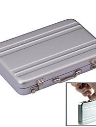 estilo mini mala senha caixa caso titular do cartão de alumínio