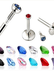 Mujer Labret, Lip Piercing Jewelry Cristal / Acero inoxidable Joyas,1pc