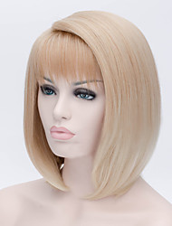 The New Cartoon Color Wig Flaxen Personality Make Face Short Straight Hair Wigs