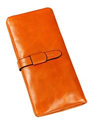 WEST BIKING® Women Wallets Oil Wax Leather Wallet Long High Capacity Women Clutch Purse Women Coin Purses