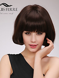 Beautyful Short Capless Human Hair Wig With Full Bang