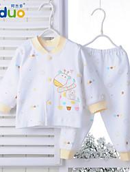 Ajiduo Newborn Baby Boy Girl Pure Cotton Sleepwear Infant Underwear Clothing Set