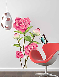 Wall Stickers Wall Decals, Peony PVC Wall Stickers