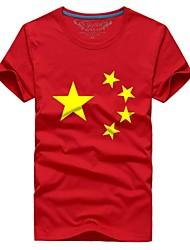 Man couple with the summer short sleeve T-shirt flag # 019