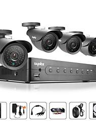 sannce® 4ch ahd 960H sistema di telecamere di sicurezza a casa 4 800tvl IR telecamere filtro proiettile cctv (1TB HDD)
