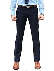 Men's Casual Pure Suits Pants (Cotton Blends)
