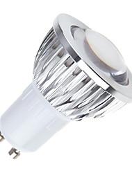 5W GU10 LED Par Lights MR16 1 COB 450 lm Warm White / Cool White / Natural White Dimmable AC 85-265 V 5 pcs