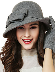 Women Wool Bowler/Cloche Hat , Cute/Party/Work/Casual All Seasons