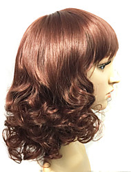 New Available ombre celebrity Curly wig cheap two-tone big wave ms female wig with full bang wavy synthetic wigs