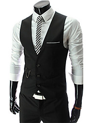 Pistons,Men's Vintage/Casual/Party/Work Sleeveless Suits & Blazers (Cotton/Rayon)
