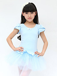 Ballet Dresses Women's Performance/Training Cotton Blue/Fuchsia/Pink/Purple Kids Dance Costumes