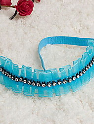 Fashion Lace With Acrylic Diamond Ornament Bar Bands For Women More Colors