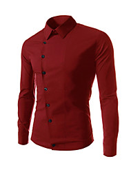 Laiersi Men's Leisure joker inclined long sleeve shirts cs21