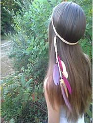 Feather Headband, Bohemian Headband, Native American, Braided Headband, Indian Headband, Hippie Headband