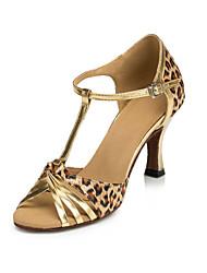 Zapatos de baile ( Leopardo ) - Latino - No Personalizable - Tacón Luis XV