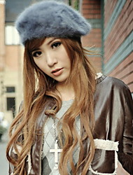Winter Faux Fur Beret Hat