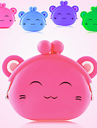 Lovely Smiling Cat Silicone Mini Change Purse (Assorted Colors)