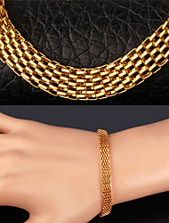 TopGold New Popcorn Link Chain 18K Chunky Gold Plated 316L Stainless Steel Bracelet for Men Women High Quality