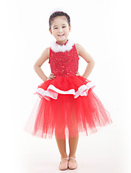 Children's Performance Sequined Tulle Ballet Dresses Kids Dance Costumes