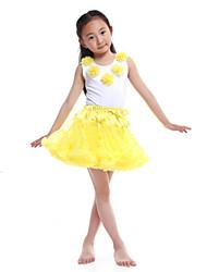 Performance Outfits Women's Performance/Training Chiffon/Cotton Yellow Kids Dance Costumes