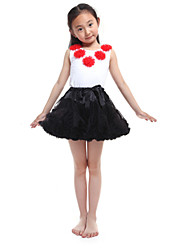 Performance Outfits Women's Performance/Training Chiffon/Cotton Black Kids Dance Costumes